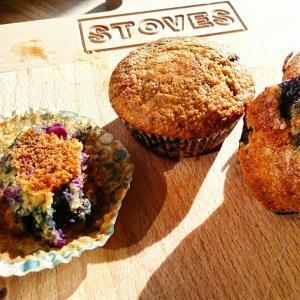 havermout bosbessen muffin