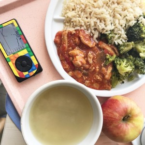 312 en bord rijst als lunch